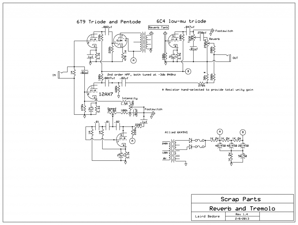 6t9 based \u201crevibe\u201d misinformation and the art of disinterest tube power supply schematic 6t9 revibe v1 4