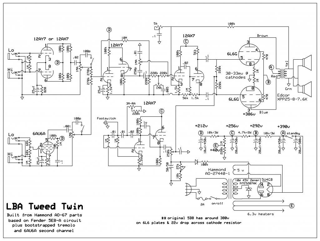 LBA Tweed Twin schematic v1.11